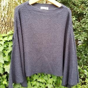 RD Style Angel Sleeve Navy Sweater,  Stitch Fix, M